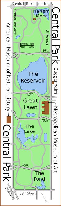 Central Park New York City Map