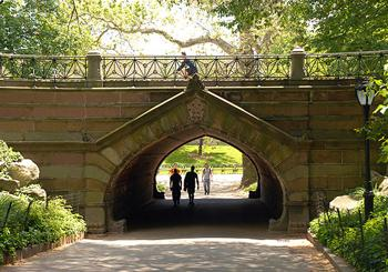 greywacke arch in Central Park New York City