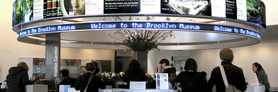 The Brooklyn Museum of Art visitor center